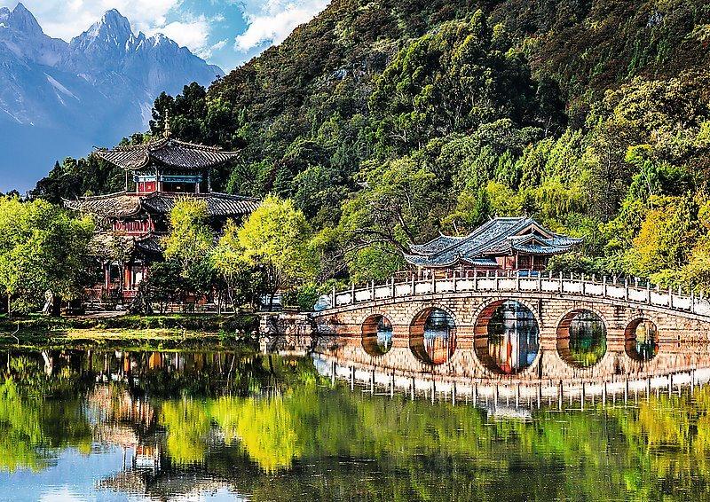 TREFL Puzzle Jezero Černého draka, Čína 500 dílků