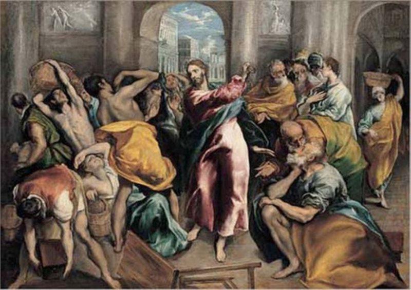EDITIONS RICORDI Puzzle Ježíš ženoucí kupce z chrámu 1500 dílků