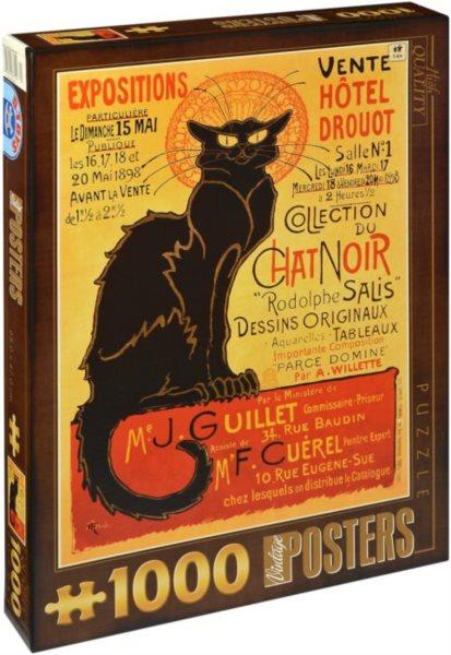 D-TOYS Puzzle Kabaret Le Chat Noir 1000 dílků