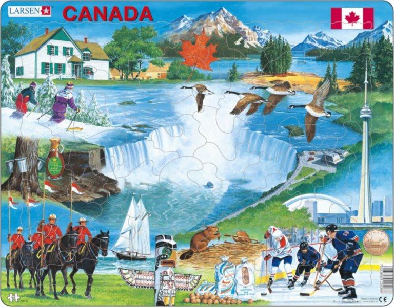 LARSEN Puzzle Kanada 66 dílků