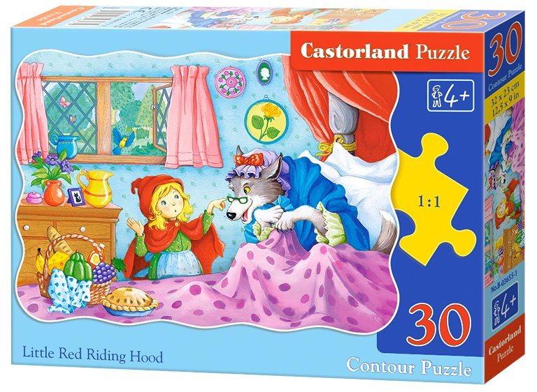 CASTORLAND Puzzle Karkulka a převlečený vlk 30 dílků