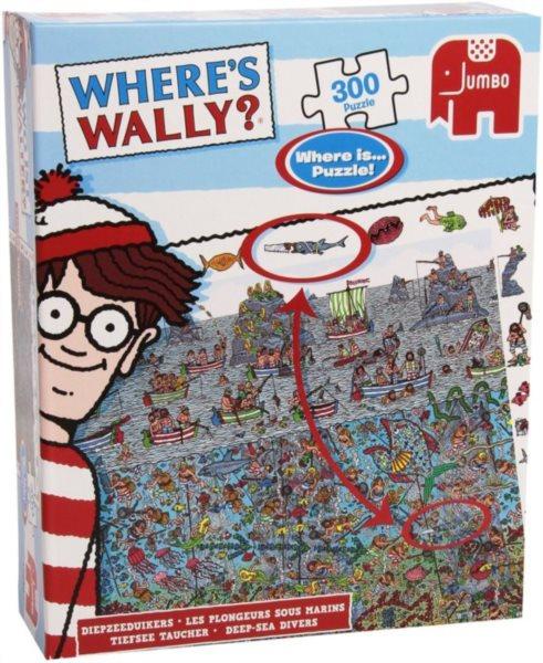Puzzle JUMBO 300 dílků - Kde je Wally?