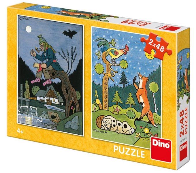 DINO Puzzle Klasické večerníčky 2x48 dílků