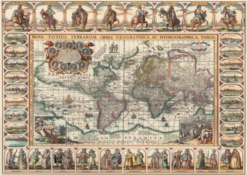 ART PUZZLE Puzzle Historická mapa světa 2000 dílků
