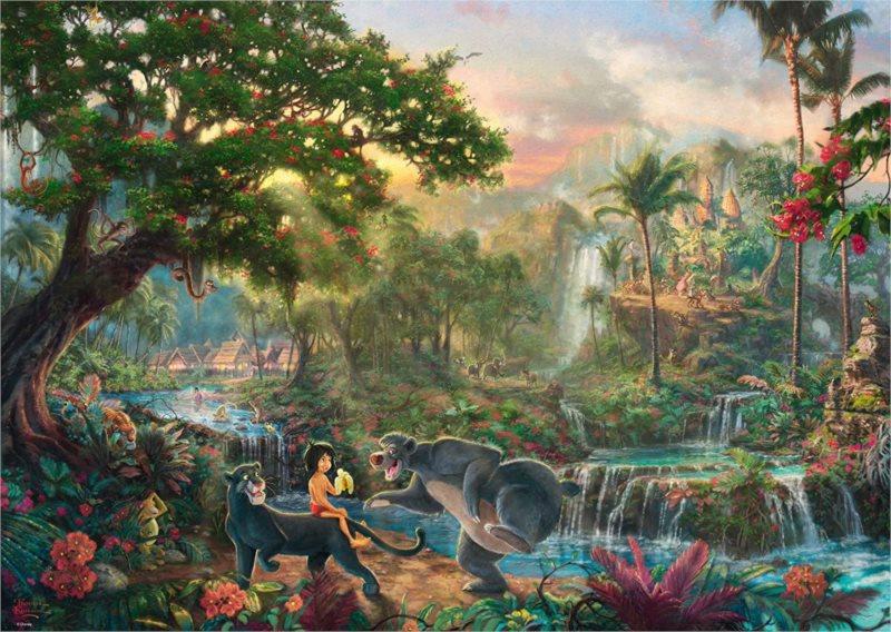 SCHMIDT Puzzle Kniha džunglí 1000 dílků