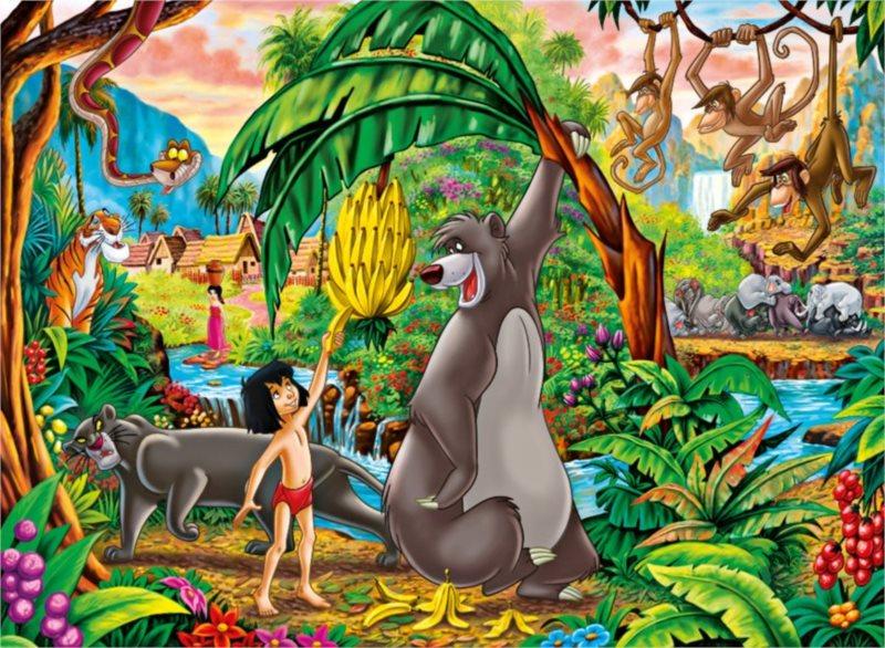 CLEMENTONI Puzzle Kniha džunglí, Mauglí MAXI 104 dílků