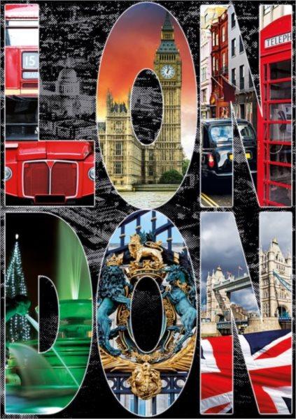 EDUCA Puzzle Koláž Londýn 1000 dílků