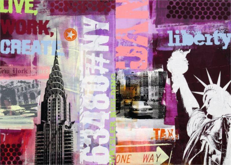 Puzzle RAVENSBURGER 1000 dílků - Koláž New York