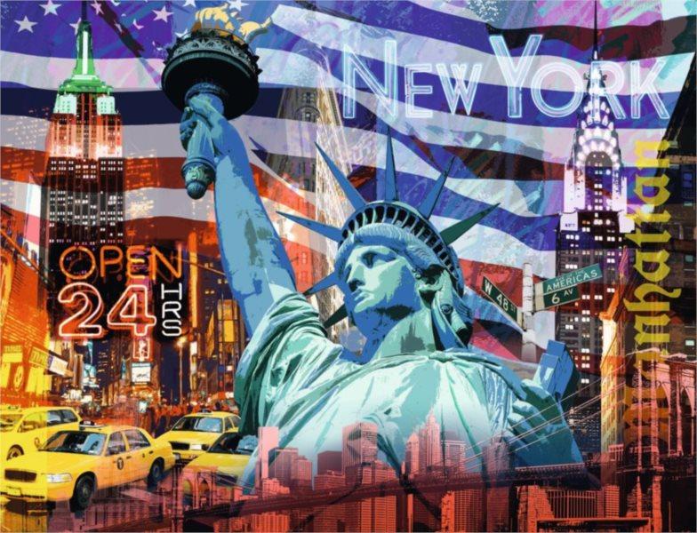 RAVENSBURGER Puzzle Koláž New York 2000 dílků