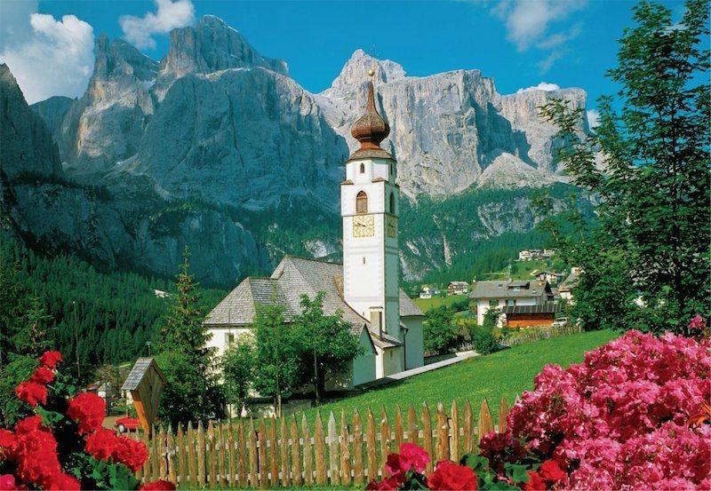 JUMBO Puzzle Kolfuschg, Dolomity 2000 dílků