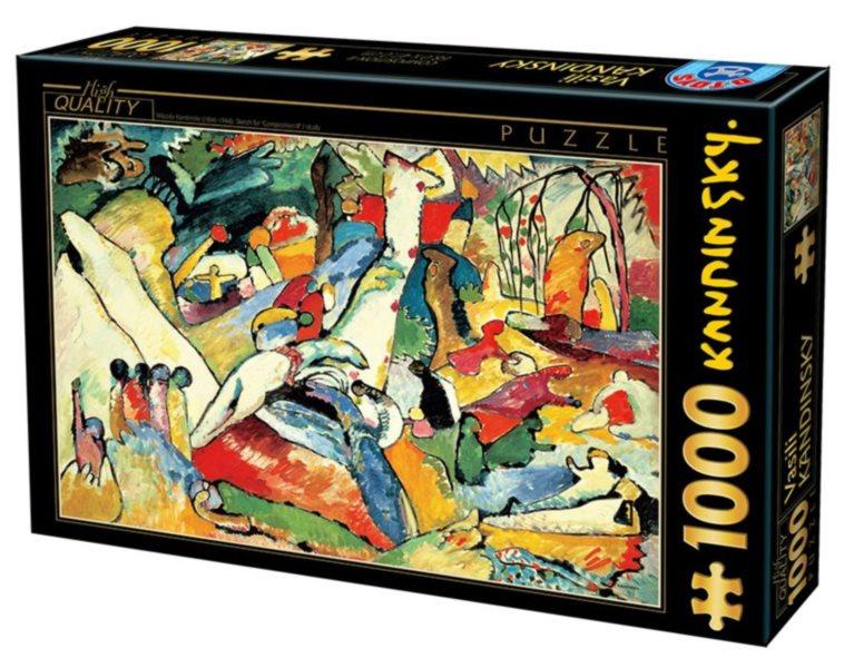 Puzzle D-TOYS 72849 W. Kandinsky: Kompozice II. 1000 dílků