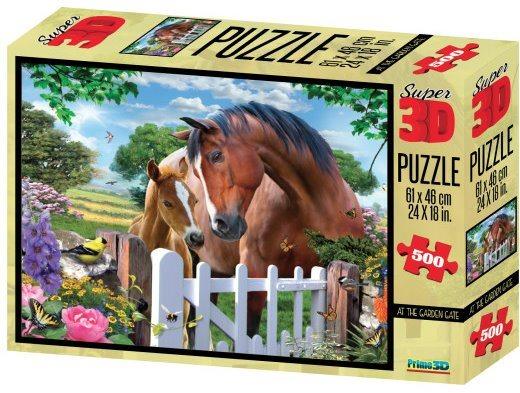 PRIME 3D Puzzle 500 dílků - Koně