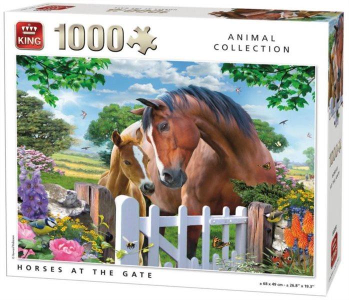 KING Puzzle Koně u branky 1000 dílků