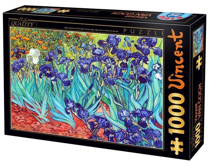 Puzzle D-TOYS 66916 V. van Gogh: Kosatce 1000 dílků