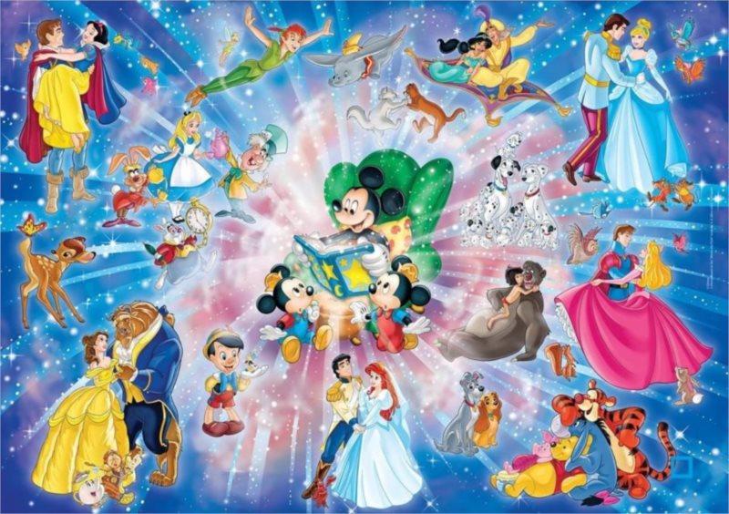 CLEMENTONI Puzzle 60 dílků - Kouzelný svět Disney