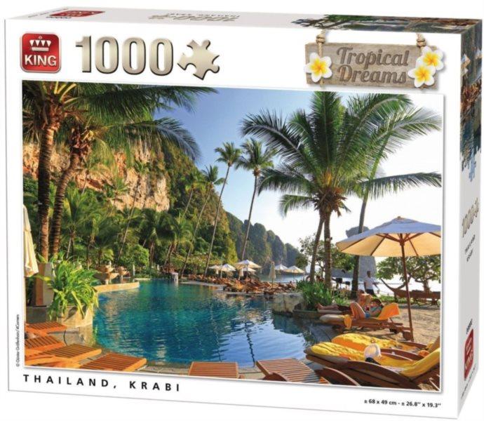 Puzzle KING 05383 Krabi, Thajsko 1000 dílků