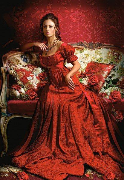 CASTORLAND Puzzle Kráska v červeném 1500 dílků