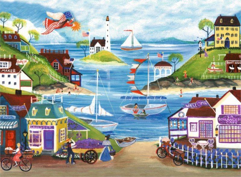 RAVENSBURGER Puzzle Krásné pobřeží 500 dílků
