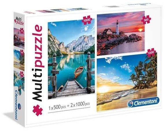 CLEMENTONI Puzzle Krásy přírody 2x1000+500 dílků