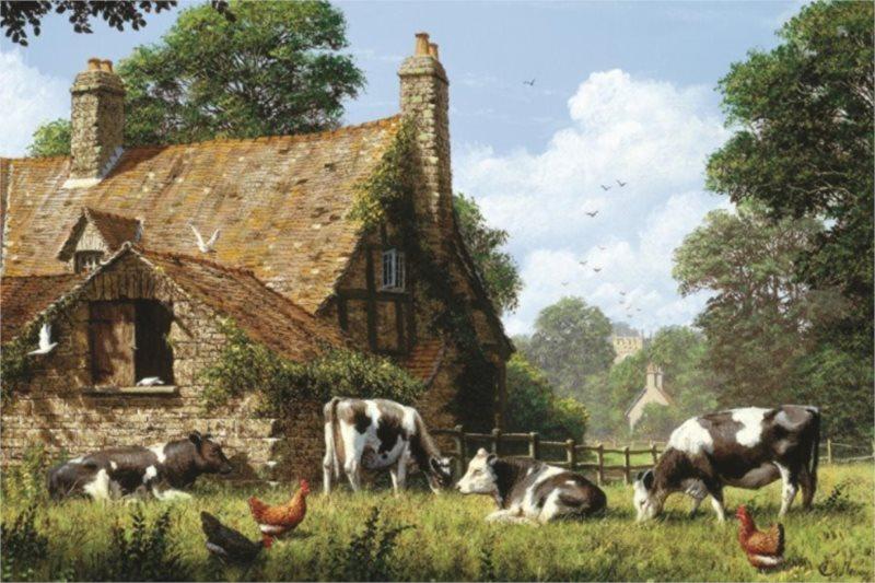 Puzzle JUMBO 18579 Krávy na farmě 1500 dílků