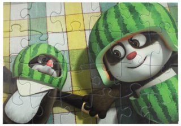Puzzle Krtek a panda: Kosmonauti 24 dílků
