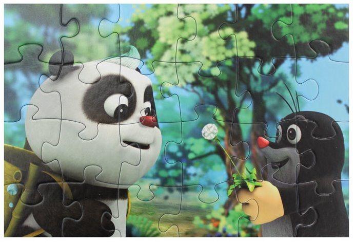Puzzle Krtek a panda: Veselá dvojka 24 dílků