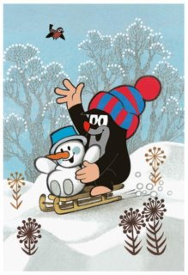 Dětské puzzle DINO 24 dílků - Krtek a sněhulák