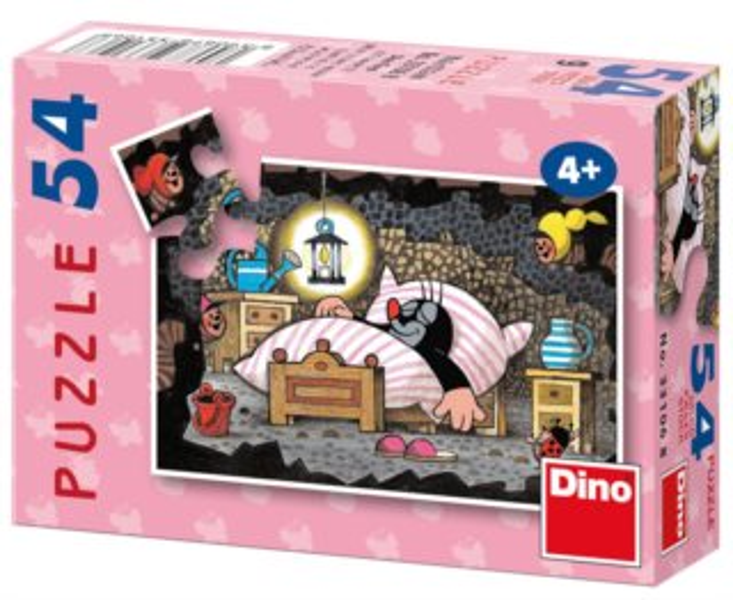 DINO Puzzle Krtek - dobrou noc 54 dílků