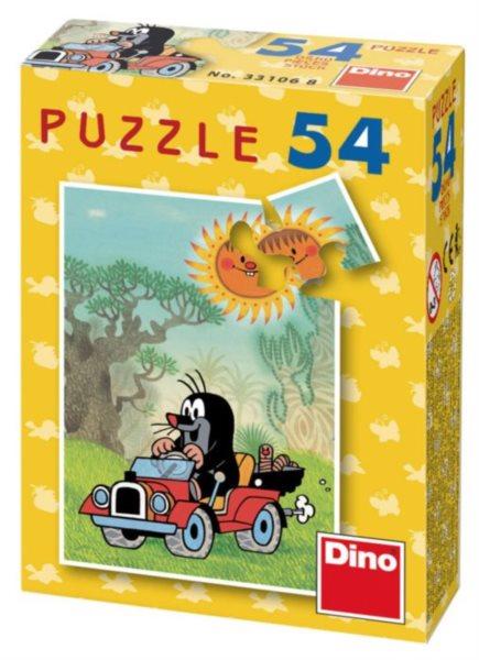 DINO Puzzle Krtek - džíp 54 dílků