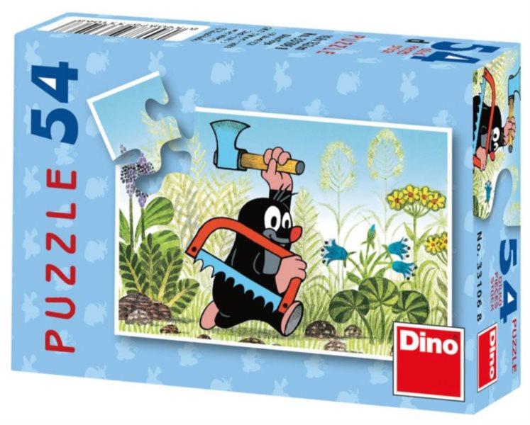 DINO Puzzle Krtek - hurá do práce 54 dílků