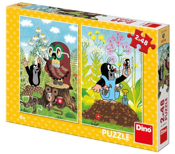 DINO Puzzle Krtek na mýtině 2x48 dílků