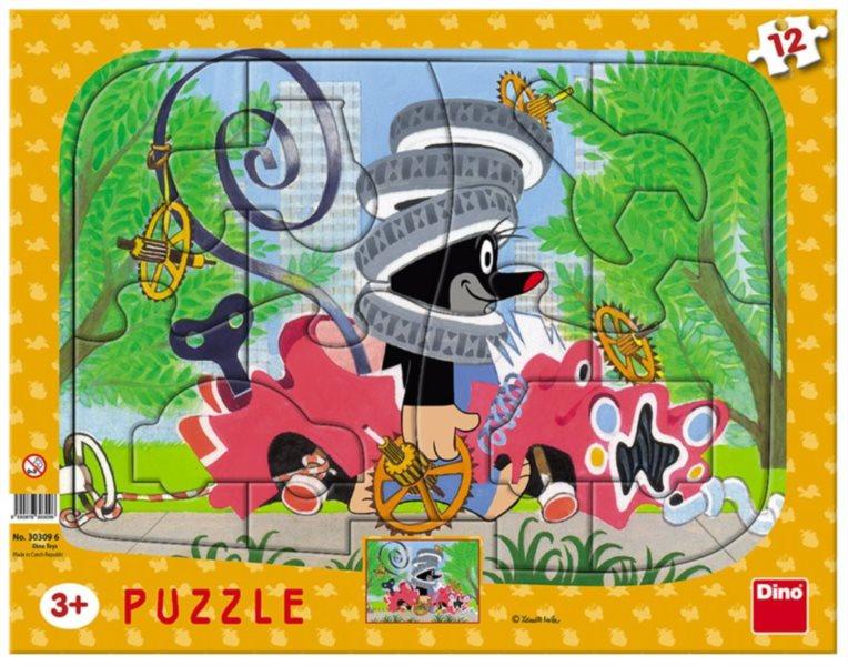 DINO Puzzle Krtek opravář 12 dílků