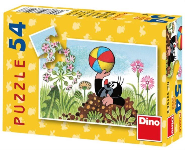 DINO Puzzle Krtek - s balónem 54 dílků