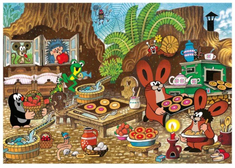 DINO Puzzle Krtek v kuchyni XL 100 dílků