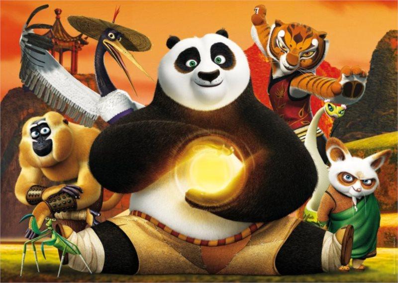 CLEMENTONI Puzzle Kung fu panda 3 MAXI 24 dílků