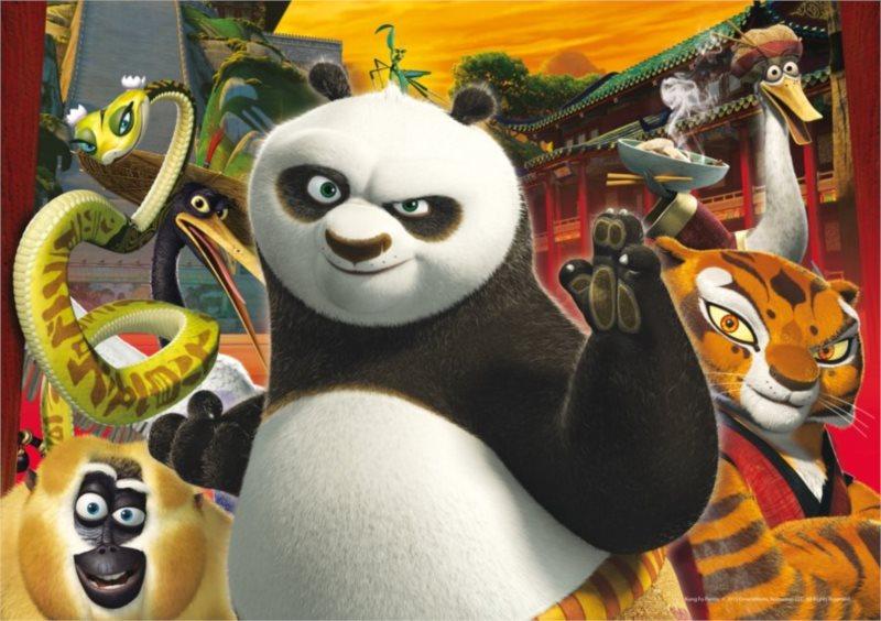 CLEMENTONI Puzzle Kung fu panda 3: Bojovníci 60 dílků