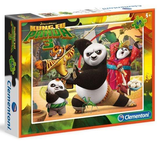 CLEMENTONI Puzzle Kung fu panda 3: Do akce 60 dílků