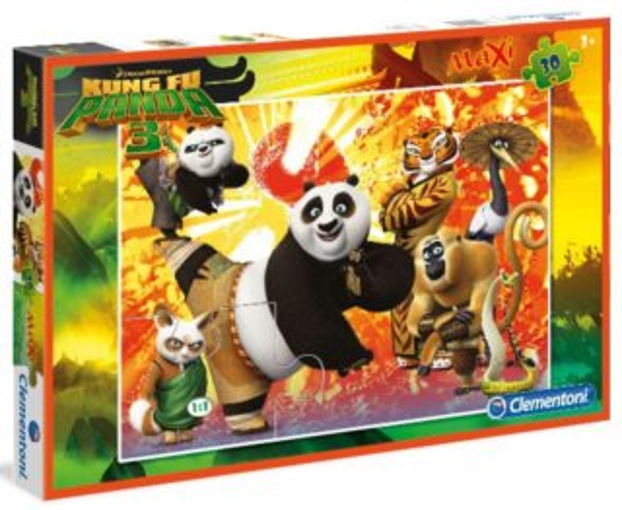 CLEMENTONI Puzzle Kung fu panda 3 MAXI 30 dílků