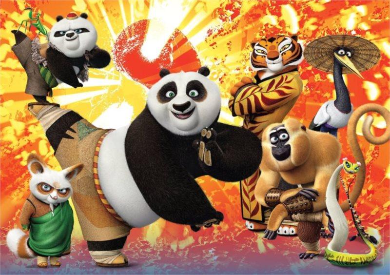 CLEMENTONI Puzzle Kung fu panda: Bojovníci MAXI 104 dílků