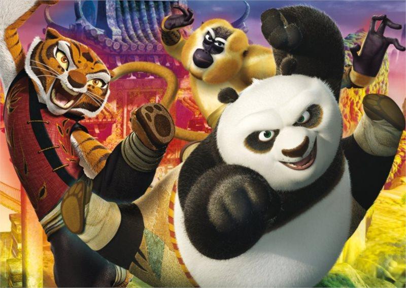 CLEMENTONI Puzzle Kung fu panda: Do boje! MAXI 104 dílků