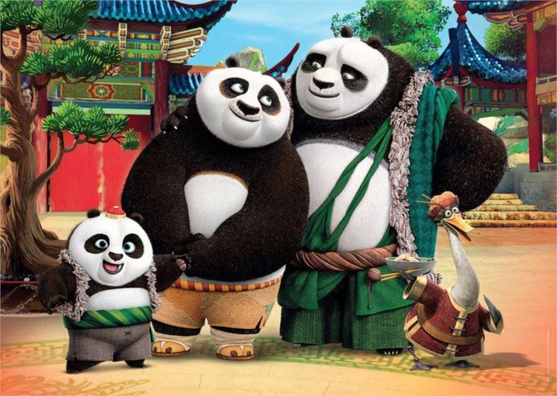 CLEMENTONI Puzzle Kung fu panda: Rodina MAXI 24 dílků