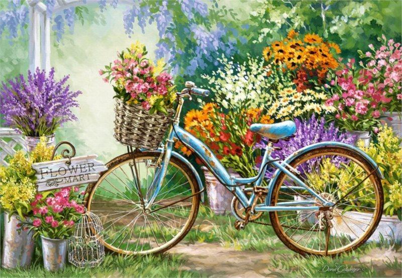 CASTORLAND Puzzle Květinový trh 1000 dílků