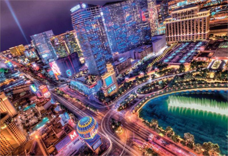 CLEMENTONI Puzzle Las Vegas 2000 dílků