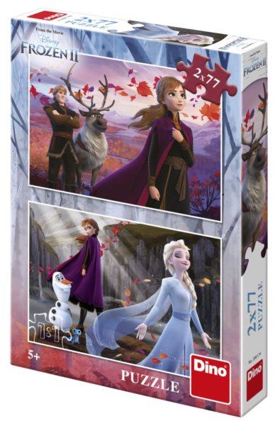 DINO Puzzle Ledové království 2, 2x77 dílků