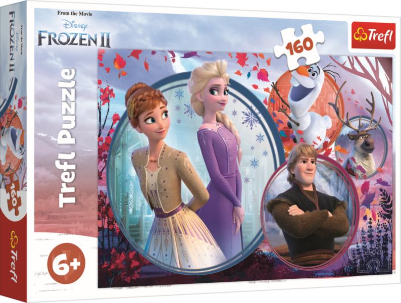 TREFL Puzzle Ledové království 2: Sesterské dobrodružství 160 dílků
