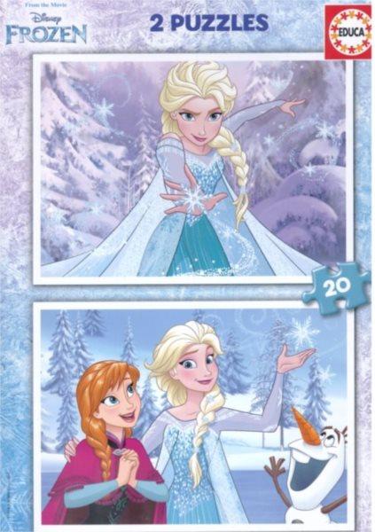 EDUCA Puzzle Ledové království 2x20 dílků