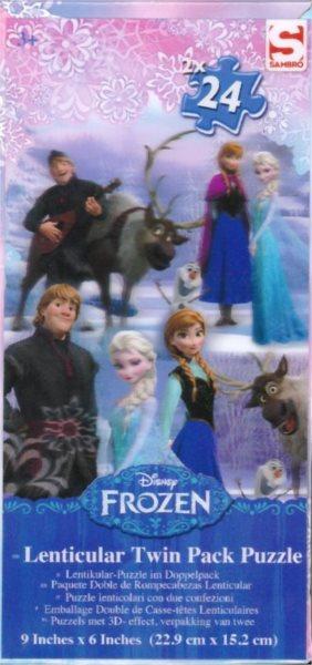Puzzle Ledové království 3D 2x24 dílků
