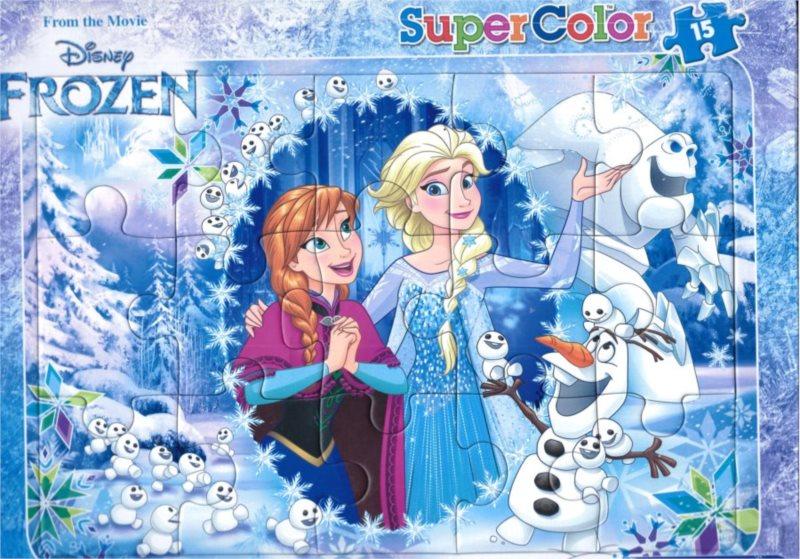 CLEMENTONI Puzzle Ledové království: Anna a Elsa 15 dílků