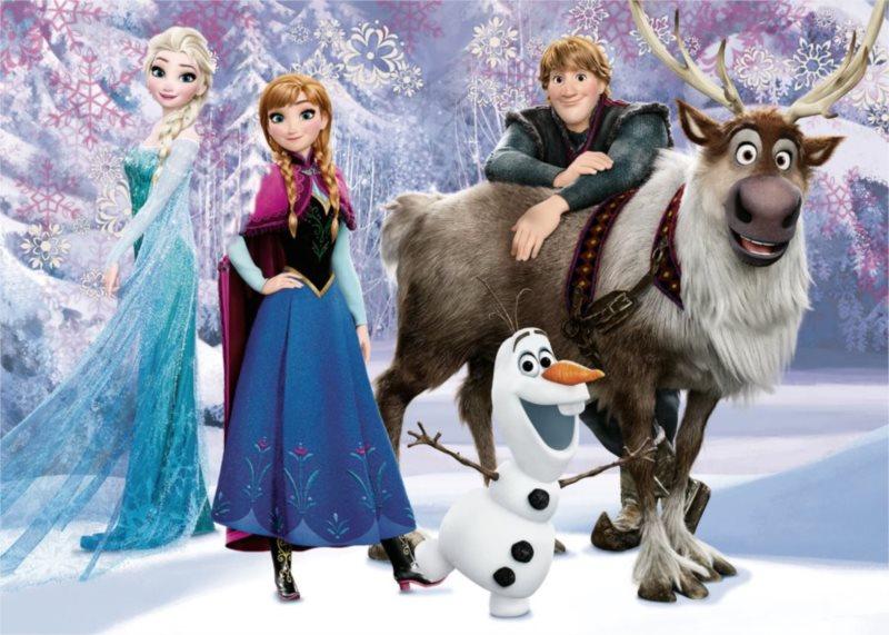 DINO Puzzle Ledové království: Elsa a přátelé MAXI 24 dílků