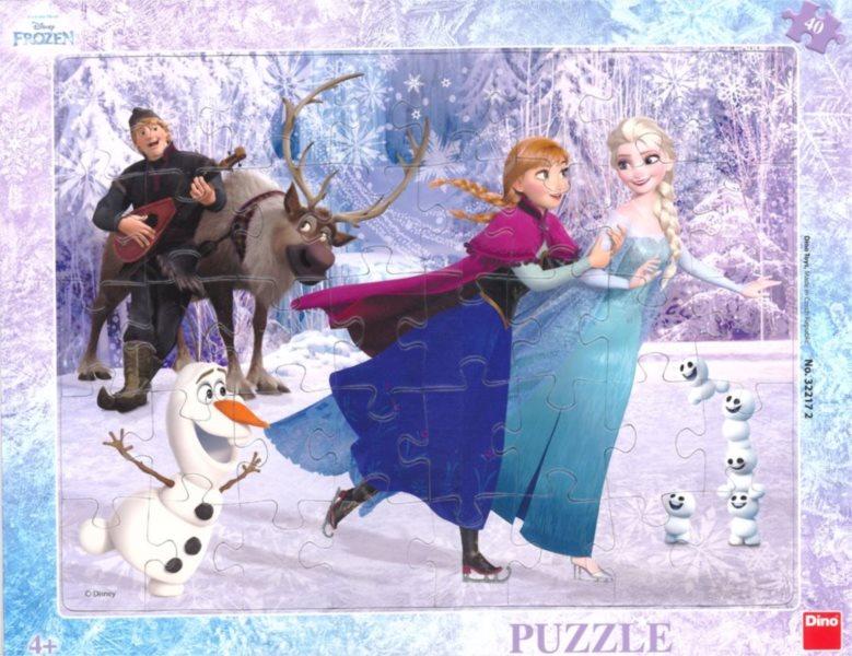 DINO Puzzle Ledové království: Na bruslích 40 dílků